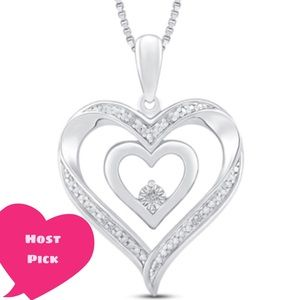 Kay Jewelers heart diamond accent 18 inch necklace